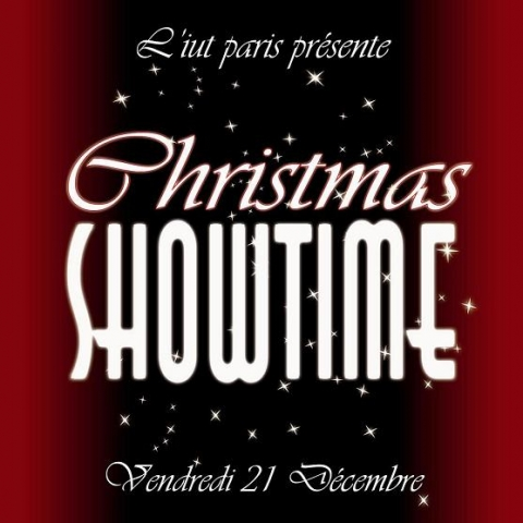 Flyer Soirée Christmas Showtime IUT Descartes